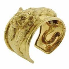 Massive David Webb Gold Leopard Cuff Bracelet