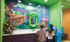 Fun brushing stations by Imagination Dental Solutions