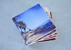 Cherry Street Cottage: DIY: tiles transformed into photo coasters