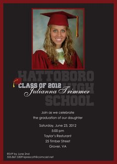 Gold Diamond Graduation Invitations for College or High School