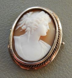 French Victorian Carved Cameo Brooch Classical Goddess Shell Cameo Silver Mount | eBay