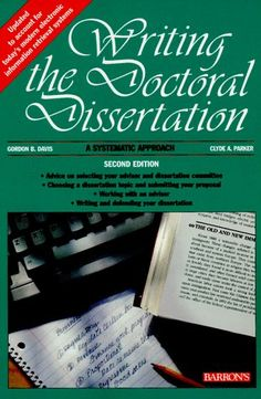 Doctoral dissertation writing help books