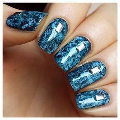 Beautiful nails 2016, Long nails, Marble nails, Nails ideas, Nails ideas 2016, Nails with rhinestones, Nails with stains, Square nails