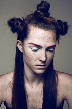 Inspired by - Editorial. #Editorial #Warrior #Red #Eyebrows