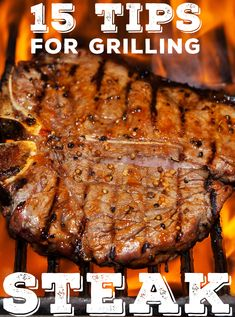 These tips will help you grill a juicy and delicious steak that has lots of flavor. Grilling Tips, Grilling Recipes, Beef Recipes, Bbq Tips, Cooking Steak On Grill, How To Grill Steak, Grilled Steak Recipes, Grilled Food