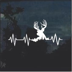 Get your Elk Deer Heartbeat Buck Hunting Window Decal Sticker from the most trusted place on the net - Made in USA - Top Quality Vinyl Deer Hunting Humor, Deer Hunting Tattoos, Deer Hunting Season, Hunting Decal, Archery Hunting, Buck Tattoo, Silhouette Tattoos, Deer Art, Ink Illustrations