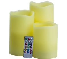 Pacific Accents Set of 3 Mood Candles with Remote