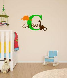 Custom Name Airplane Vinyl Childrens Name Vinyl Decal Home - Custom vinyl wall decals dinosaur