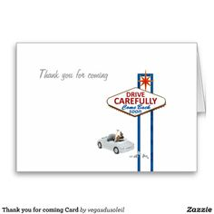 Thank you for coming Card