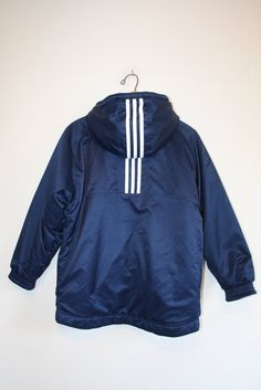 ADIDAS REVERSIBLE COAT // size adult small // 90s // by GUTTERSHOP