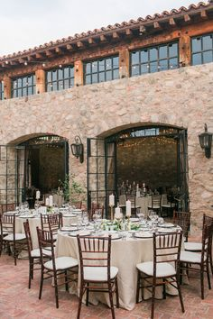 Love how this reception reminds us of Tuscany! View the full wedding here: http://thedailywedding.com/2016/05/14/timeless-silverleaf-country-club-wedding-krista-matt/