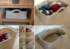 Crochet Storage Basket Pattern Lots Of Great Ideas | The WHOot