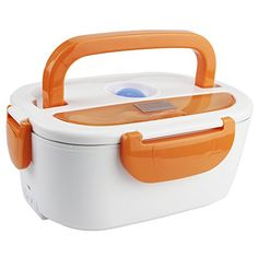 COFFLED Electric Heating Bento Lunch Invehicle BPAFree Plastic Food Storage Container for AdultsKidsSuper easytocarry Portable Meal Heater with Stainless Steel TankOrange color * More info could be found at the image url. Portable Food, Halal Recipes, Food Storage Containers, Special Deals, Bento, Cool Things To Buy, Electric, Stainless Steel, Plastic