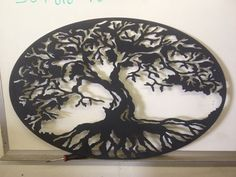 Tree Of Life Wall Sconce 36x 24 Oval by SteelDealer on Etsy, $125.00