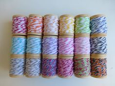 Divine Twine Bakers Twine - 30 Yard Sampler Pack (5 Yards each of 6 colors - your choice). $4.50, via Etsy.