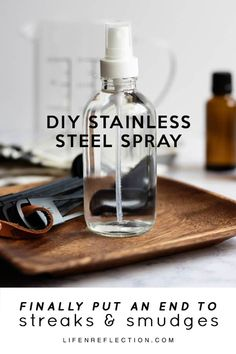 Diy Cleaners 163396292716719499 - This DIY stainless steel spray cleans and disinfects in addition to making your kitchen appliances shine! I use it on all our appliances including the fridge, stove, and dishwasher. Source by lifenreflection Cleaning Stainless Steel Fridge, Diy Stainless Steel Cleaner, Stainless Steel Stove, Stainless Steel Kitchen Appliances, Kitchen Cleaning, Bosch Appliances, Vintage Appliances, White Appliances, Diy Cleaners