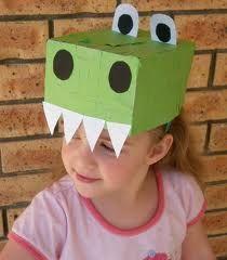 dinosaur hat idea for silly hat day Dinosaurs Preschool, Dinosaur Activities, Dinosaur Crafts, Craft Activities, Spanish Activities, Kids Crafts, Hat Crafts, Preschool Crafts, Craft Kids