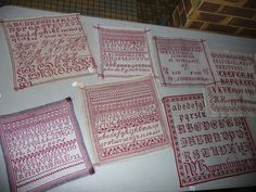 red and white samplers!  Love this collection