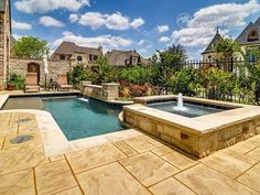 Riverbend Sandler Pools offers Geometric Pool Designs Dallas, Frisco and surrounding areas that homeowners can be proud of. Backyard Pool Designs, Backyard Ideas, Pool Ideas, Small Pool Design, Swimming Pool Landscaping, Pool Builders, Dream Pools, Geometric Pools, Dallas