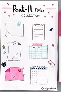 Want to add some fun doodles to your bullet journal! Check out these super cute paper note doodle tutorials for inspiration! Bullet Journal Paper, Bullet Journal Lettering Ideas, Bullet Journal Notebook, Bullet Journal School, Bullet Journal Ideas Pages, Bullet Journal Inspiration, Note Doodles, Bujo Doodles, Bullet Journal Aesthetic