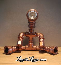 threaded lamp pipe home depot Pipe Lighting, Cool Lighting, Lampe Steampunk, Lampe Metal, Edison Lampe, Lampe Tube, Galvanized Pipe, Copper Lamps, Metal Pipe