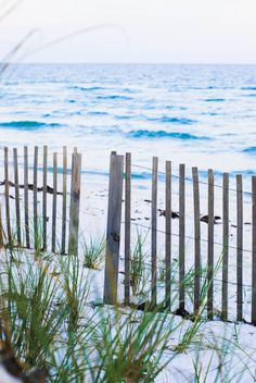 Items similar to Seaside Fencing - Fine art print beach sand ocean solitude on Etsy Ocean Beach, Beach Bum, Beach Grass, Serenity, Magic Places, Beach Please, I Love The Beach, Beach Scenes, Ocean Scenes