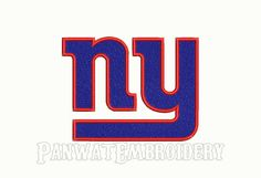 7 Size New York Giants Logo Embroidery Designs by PanwatEmbroidery