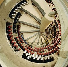 For wine lovers who don't have space for a designer wine cellar. This is like the Bat Cave of wine storage solutions. Spiral Wine Cellar, Root Cellar, Wine Cellar Design, Trap Door, Wine Collection, Saunas, Italian Wine, In Vino Veritas, Cuisines Design
