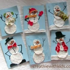 Make a few homemade Christmas cards to give to close family this Christmas. These homemade cards are easy to for young kids to make. Homemade Christmas Cards, Winter Christmas, Kids Christmas, Homemade Cards, Snowman Cards For Kids, Kids Cards, Preschool Crafts, Crafts For Kids, Christmas Activities