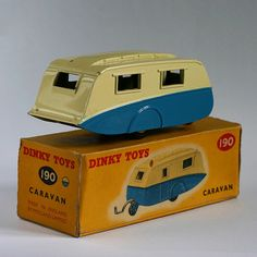 Dinky Toys 190 Caravan back I used to call the matchbox cars dinky cars