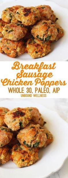 Breakfast Sausage Chicken Poppers (Paleo, Whole 30, AIP) - Unbound Wellness