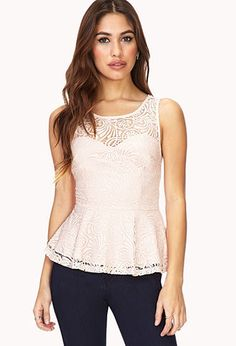 """Remixed Boho Peplum Top 