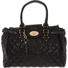 £30 Black Quilted Large Shoulder Bag