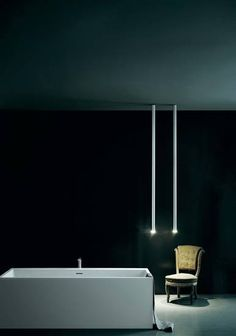 Boffi L.O.P. suspended lamp in aluminium with LED diffusor of changeable length