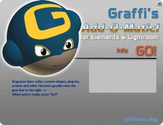 Auto installs actions, effects, layer styles, etc, into Photoshop Elements & Lightroom
