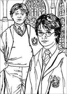 Harry Potter coloring page | Coloring pages to print - Harry ...
