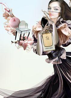 'Sì' the new fragrance for her by Giorgio - Parfumerie et parapharmacie - Parfumeries - Giorgio Armani Armani Cosmetics, Cosmetics & Perfume, Giorgio Armani, Perfume Adverts, Perfume Storage, Vanilla Perfume, Essential Oil Perfume, Essential Oils, Best Perfume