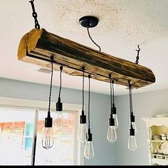 Choose Size Made to Order Reclaimed Barn Wood Siding Fixture with Caged Edison Bulbs for //Bar//Restaurant //Home - Rustic Lighting* Farmhouse Chandelier Lighting, Farmhouse Light Fixtures, Wood Chandelier, Rustic Lighting, Bar Light Fixtures, Wooden Barn, Reclaimed Barn Wood, Wood Siding, Wood Beams