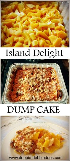 How to make and island delight dump cake