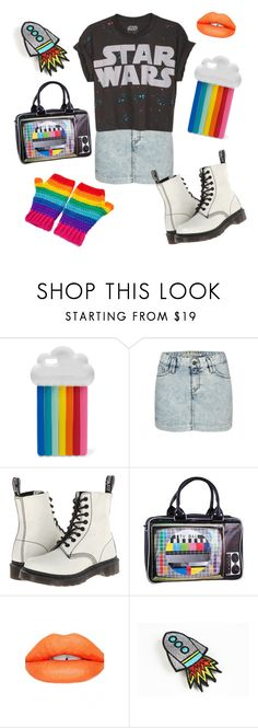 """""""I need some space"""" by velvetvolcano ❤ liked on Polyvore featuring STELLA McCARTNEY, French Connection, Dr. Martens, Retrò and Sugarpill"""