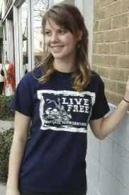 Women's T-shirt navy - Short sleeve - spring style fashion @ Black Bear Trading Asheville N.C.