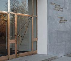 alvar aalto | viipuri library . (entrance door detail)