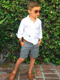 cute toddler boy outfit complete w/ loafers  shades!