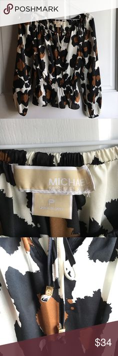 MICHAEL KORS SILK BLOUSE SIZE P PETITE 100% silk, beautiful condition. From a smoke free home. MICHAEL Michael Kors Tops Blouses