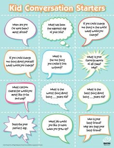 conversation starters--perfect for morning meeting by Maiden11976