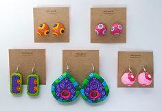 Diy Crafts Jewelry, Paper Jewelry, Paper Beads, Clay Jewelry, Jewelry Art, Diy And Crafts, Paper Mache Clay, Paper Mache Crafts, Diy Paper
