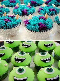 Monsters Inc. Cupcakes                                                                                                                                                     Más