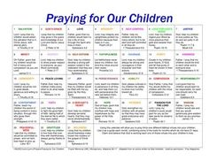 Calendar for praying for your kids-- love that it includes scripture for each day! by bzmomto7