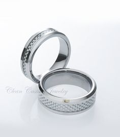 Tungsten Carbide Matching Wedding Rings By CleanCastingJewelry 9999
