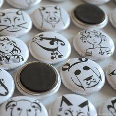 Music Note Magnets – Classroom Pack   erinheaton.com #musicgift #musicnotes
